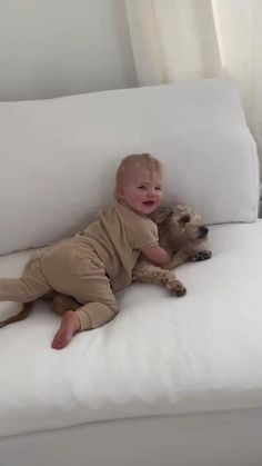 The cutest baby and puppy!