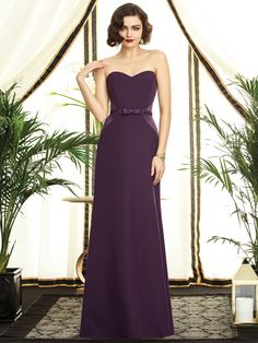 Full length strapless renaissance dress (matte side), sweetheart neckline and matching belt with bow.  Available in 45 colors!  Sold at Dresses By Russo #bridesmaid #dress