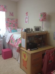 Lilly inspired dorm room.