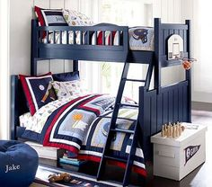Camp Twin-Over-Full Bunk Bed #pbkids