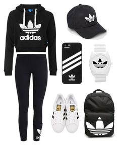 """""""ADIDAS"""" by lisa-brooke-clement ❤ liked on Polyvore featuring Topshop, adidas Originals and adidas"""