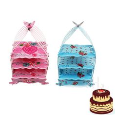 Birdcage cupcake #cardboard cake stand vintage wedding tea #party display #holder,  View more on the LINK: 	http://www.zeppy.io/product/gb/2/271957136997/