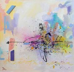 Original Abstract Painting by Daniela Mihai Wood Canvas, Canvas Art, Spray Paint Wood, Original Art, Original Paintings, Caligraphy, Painting On Wood, Buy Art, Watercolor Tattoo