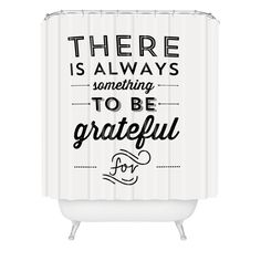 Allyson Johnson Something To Be Grateful For Shower Curtain | DENY Designs Home Accessories