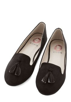 Come On, Get Sassy Flat in Black. Your steps are a bit more spirited when you parade around in these black loafers! #black #modcloth