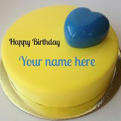 Mango Flavour Name Cake with Blueberry Heart Toppings.Mango Cake With Name.Print Name on Blueberry Heart Cake.Yellow Cake For Birthday Wishes With Name. Birthday Cake For Brother, Panda Birthday Cake, Birthday Wishes With Name, Birthday Wishes Cake, Birthday Msgs, Anniversary Cake With Photo, Happy Birthday Floral, Ironman Cake, Buttercream Birthday Cake
