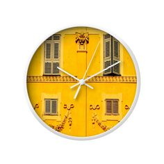 Time ticks away against a stunning French facade on this charming Ville Wall Clock. This vibrantly hued clock face snapshot is elegantly enclosed in a white frame and accented with sleek white clock ha...  Find the Ville Wall Clock, as seen in the Cannes Je T'aime Collection at http://dotandbo.com/collections/cannes-je-taime?utm_source=pinterest&utm_medium=organic&db_sku=109264