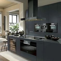 36 nice ideas for your modern kitchen remodel 30 Modern Kitchen Cabinets, Kitchen Cabinet Design, Modern Kitchen Design, Interior Design Kitchen, Home Decor Kitchen, Kitchen Living, Black Kitchens, Home Kitchens, Miele Kitchen