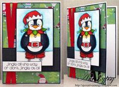Finn is one of those people (or should I say penguins) who doesn't quite catch the spirit of Christmas. Digital Stamps, Stamping, Paper Crafts, Create, Cards, Christmas, Image, Xmas, Digi Stamps