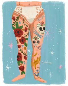 """Mi piace"": 344, commenti: 9 - Isabel Munoz illustration (@isabelmgart) su Instagram: ""Pretty person #picame #artoftheday #illustration #tattoolegs"""