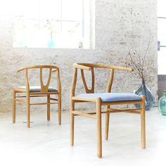 Chaise déco scandinave en teck