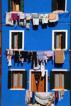 Island of Burano, a blue house. Lagoon of #venice