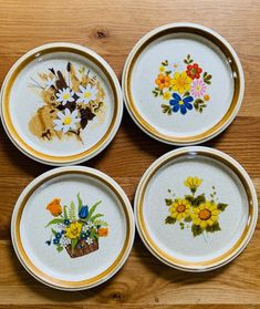 Excited to share this item from my shop: Mismatched Dinner Plates/Vintage Floral Stoneware Plates And Optional Chop Plate/ 4 Mix and Match Floral Dinner Plates Casual Dinnerware, Daisy Mae, Soup Mugs, Pie Plate, Etsy Shipping, Salad Plates, Serving Dishes, Vintage Japanese, Dinner Plates