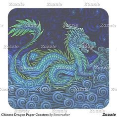 Chinese Dragon Paper Coasters