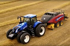 New Holland Agriculture announced today the new GENESIS Series tractor with Precision Land Management (PLM) Intelligence (New Holland's intuitive precision farming platform) built in-house from the ground up. John Deere Decor, Commercial Farming, New Holland Agriculture, Tractor Pictures, Agriculture Tractor, New Holland Tractor, Ford Tractors, Old Farm Equipment, Ford News