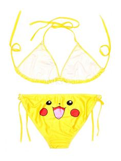 44c61247dfafd Pokemon Go Pokemonster Pikachu Cosplay Swim Suit Bikini Halloween #Pikachu,  #Cosplay, #