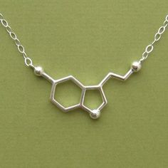 serotonin necklace for happiness with link di molecularmuse