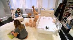 Kim Kardashian Reveals North West's Nursery — First Pics Baby Shower Decorations For Boys, Baby Decor, Nursery Room, Girl Nursery, Kim Kardashian Home, Kris Jenner House, Celebrity Nurseries, Throwback Pictures, Celebrity Houses