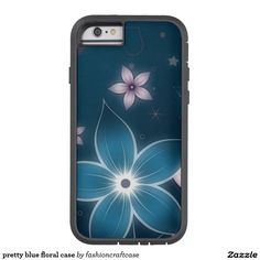 pretty blue floral case
