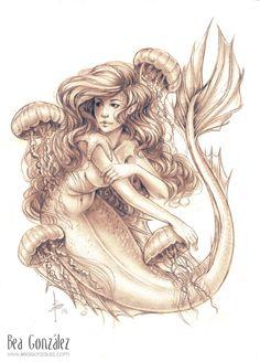 Jellyfish by Bea-Gonzalez on deviantART