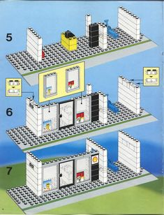 LEGO 6378 Service Station instructions displayed page by page to help you build this amazing LEGO City set Modele Lego, Lego Structures, Lego City Sets, Good Old Times, Cool Lego Creations, Lego Projects, Lego Building, Lego Brick, Legos