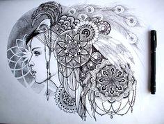 Art by Lucy Brown and Splund (Luke Pearce) http://www.sacredgeometryart.com/lucy-brown/ http://www.sacredgeometryart.com/luke-pearce/