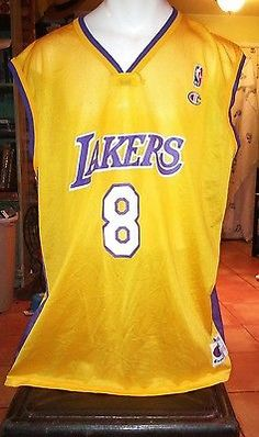 Kobe Bryant  8 ~ Los Angeles Lakers ~ Champion Authentic Jersey ~ EUC Kobe  Bryant 6a7ea1451
