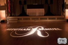 Grayscale monogram on the dancefloor that we designed. Teamed up with Blue Steel Lighting in Norfolk for the actual event.