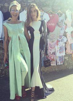 Margherita Missoni (dress: Marta Ferri Atelier) and Elisa Sednaoui.