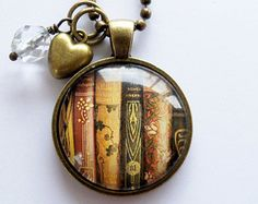 Library Book Necklace, for the girl who loves to read. $18.00 from Etsy.