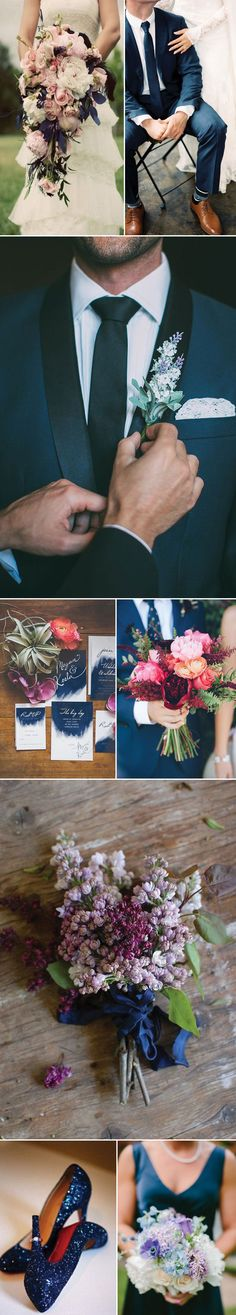 Lilac and Navy Wedding Inspiration   Brides are loving this color palette for their Winter Weddings.