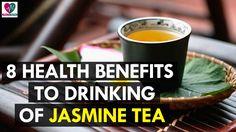 8 Health Benefits to Drinking Jasmine Tea - Health Sutra Jasmine Tea, Health Benefits, Shot Glass, Drinking, Drinks, Beverage, Drink, Shot Glasses
