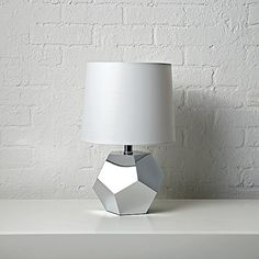 Geometric Silver Lamp | The Land of Nod