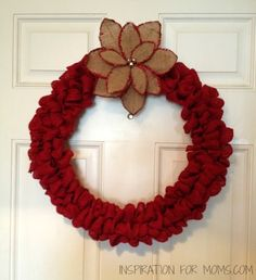 DIY Red Burlap Wreath | My Crafty Spot - When Life Gets Creative