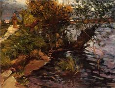 Willows+by+the+Yerres+-+Gustave+Caillebotte