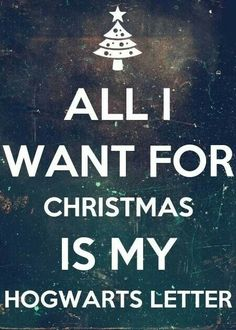 All I want for Christmas is my Hogwarts letter! All I want for Christmas is my Hogwarts letter! Harry Potter World, Mundo Harry Potter, Harry Potter Jokes, Harry Potter Tumblr, Harry Potter Fandom, Drarry, Dramione, Hogwarts Brief, Ron Y Hermione