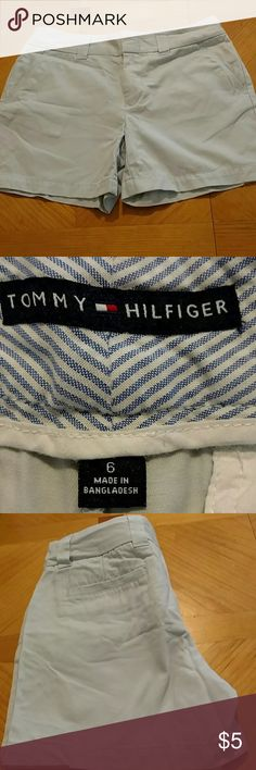 Tommy Hilfiger shorts Tommy Hilfiger shorts. Baby blue Excellent condition. Size 6 womens. Smoke free home. Tommy Hilfiger Shorts
