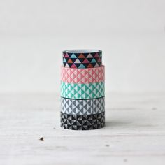 Geometric Washi Tape - can use this to turn inexpensive plastic cups into works of ART HONEY!