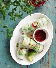 Vietnamilaiset kesärullat // Summer rolls Food & Style Tiina Garvey, FAnni & Kaneli Photo Tiina Garvey www.maku.fi