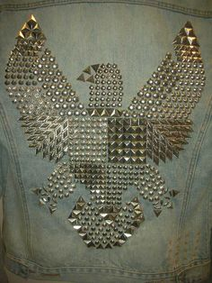 I want to do this on one of my jean jackets! #DIY #Jean #Jacket
