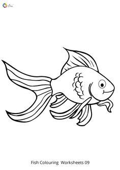 Free Downloadable Fish Worksheets for kids. Fish Coloring Page, Colouring Pages, Coloring Sheets, Letter F, Small Letters, Worksheets For Kids, Spelling, Parenting, Names