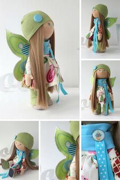 Butterfly doll Tilda doll Art doll handmade by AnnKirillartPlace