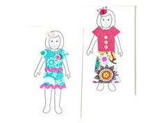 How to Make Paper Dolls With Downloadable Patterns: Continue these steps to make as many paper dolls as your imagination can come up with. From DIYnetwork.com