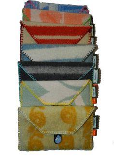 Opbergtasjes van Vintage Wollen Dekens. VanCaat.