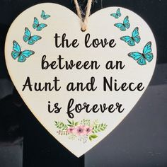 The Love Between An Aunt and Niece Is Forever wood sign Aunt Gift Christmas Aunt birthday Aunt gift ideas Christmas decor Funny Niece Quotes, Neices Quotes, Niece Quotes From Aunt, Birthday Quotes For Aunt, Short Birthday Wishes, Niece Birthday Wishes, Aunt Birthday, Baby Girl Quotes, Cousin Quotes