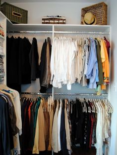 The experts at HGTV.com share smart ways to maximize storage in your walk-in closet, such as shoe shelving, baskets, tie racks, storage shelves and more.
