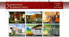 Webdesign für das Architekturbüro der Andrea Linsbauer – Groiss ZT Gmbh.