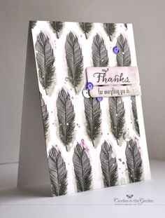 ©Candles in the Garden. One stamp set, three ways Waltzingmouse Stamps Fine Feathers. Feather Cards, Bird Cards, Card Tags, Card Boxes, Masculine Cards, Sympathy Cards, Paper Cards, Creative Cards, Cute Cards