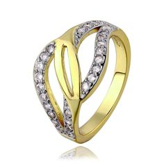 R662-B-8 Wholesale High Quality Nickle Free Antiallergic New Fashion Jewelry 18K Gold PlatedRing