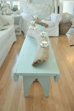 ~love this drift wood candle holder~